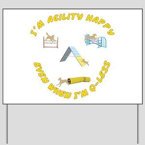 Agility Happy Yard Sign