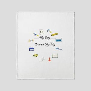 Agility Circle Your Text Throw Blanket