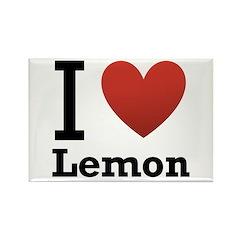 I Love Lemon Rectangle Magnet