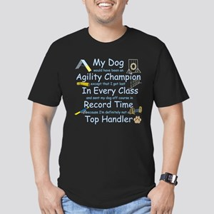 Agility Champion Men's Fitted T-Shirt (dark)