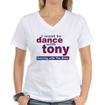 I Want to Dance with Tony Women's V-Neck T-Shirt