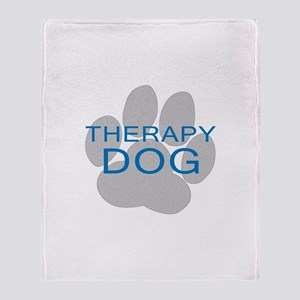 Therapy Dog Throw Blanket