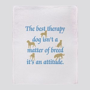 Best Therapy Dog Throw Blanket