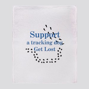 Support Tracking Throw Blanket