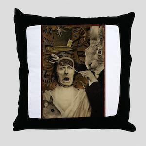 Mad Hatter: Attitude Adjustme Throw Pillow