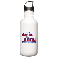 I want to Dance with Anna Water Bottle