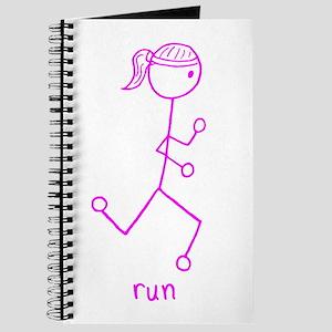 Pink Running Girl w/ Words Journal