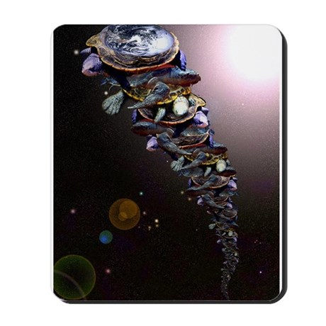 Turtles All The Way Down Mousepad