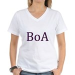 Dotted BoA Women's V-Neck T-Shirt