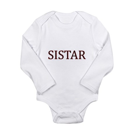 Dotted Sistar Long Sleeve Infant Bodysuit