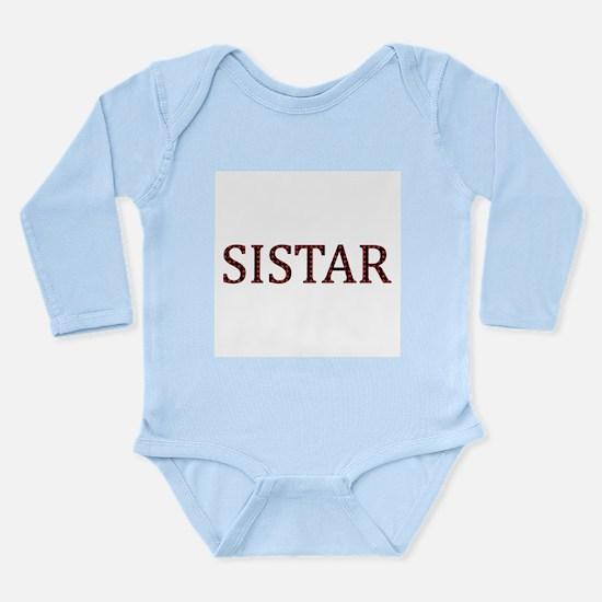 Dotted Sistar Long Sleeve Infant Bodysuit