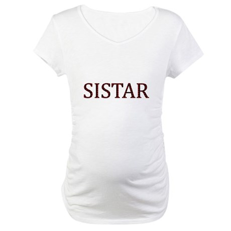 Dotted Sistar Maternity T-Shirt