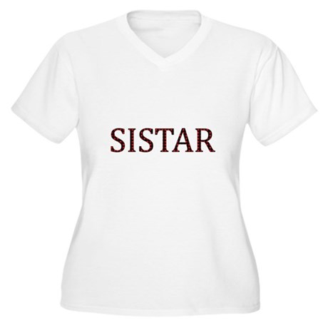 Dotted Sistar Women's Plus Size V-Neck T-Shirt