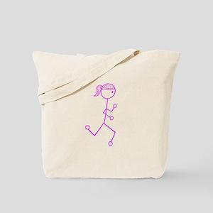Pink Run. Girl No Words Tote Bag