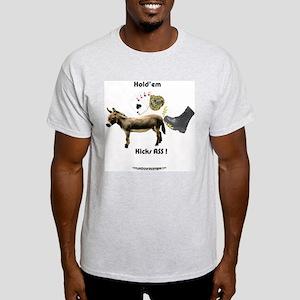 Hold'em Kicks ASS! Ash Grey T-Shirt