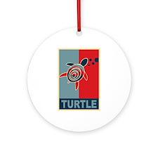 Turtle Hope Ornament (Round)