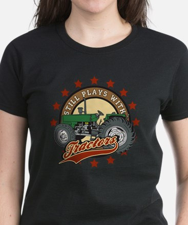 Still Plays with Tractors Gre Women's Dark T-Shirt