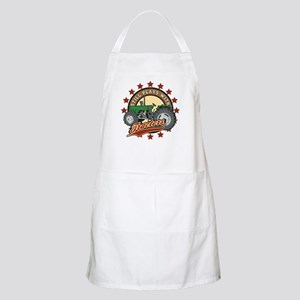 Still Plays with Tractors Green Apron