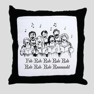 Fah-Rah-Rah-Rah Throw Pillow