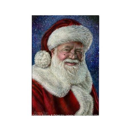 Santa's Starry Night Rectangle Magnet (10 pack)