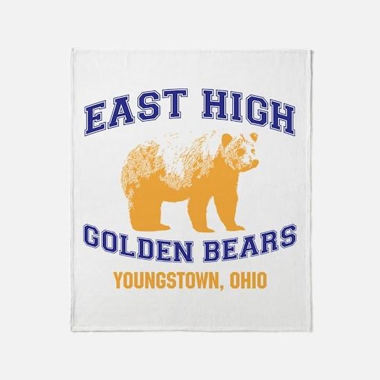 East High Golden Bears Throw Blanket