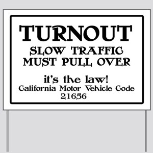 Turnout Highway Sign
