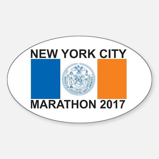 2017 New York City Marathon Sticker (Oval)