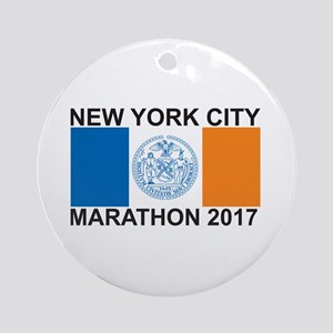 2017 New York City Marathon Ornament (Round)