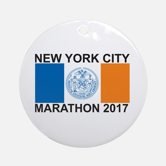 2017 New York City Marathon Ornament (Round)