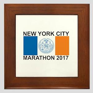 2017 New York City Marathon Framed Tile