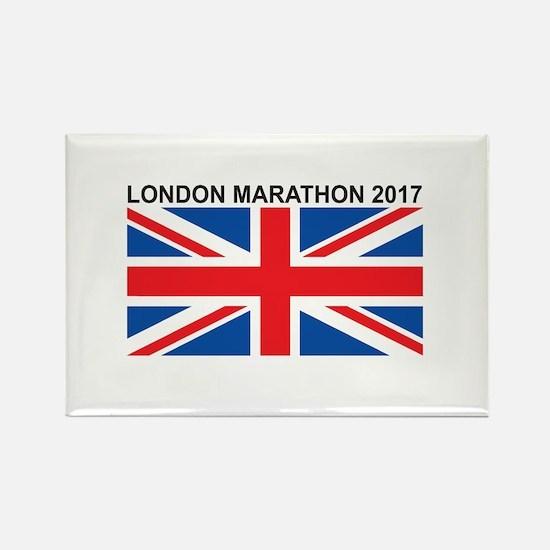 2017 London Marathon Rectangle Magnet