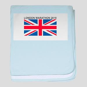 2018 London Marathon baby blanket