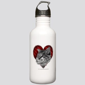 Maine Coon Valentine Stainless Water Bottle 1.0L