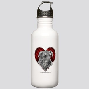 Airedale Terrier Valentine Stainless Water Bottle