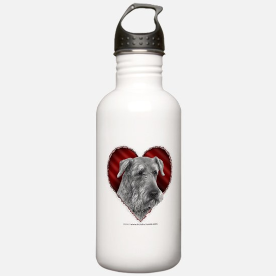 Airedale Terrier Valentine Sports Water Bottle