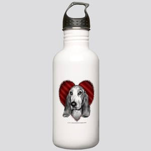 Basset Hound Valentine Stainless Water Bottle 1.0L