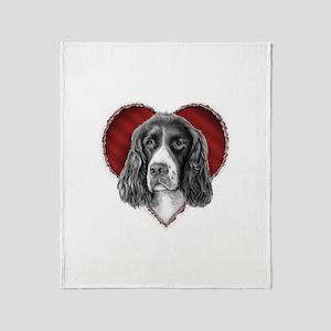 Springer Spaniel Valentine Throw Blanket