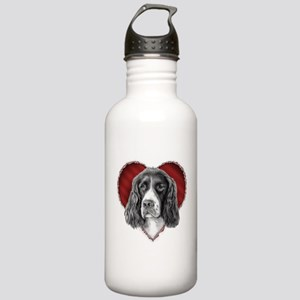 Springer Spaniel Valentine Stainless Water Bottle