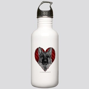 German Shepherd K9 Valentine Stainless Water Bottl