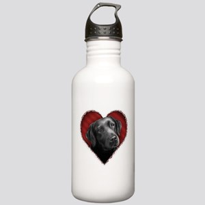 Labrador Retriever Valentine Stainless Water Bottl