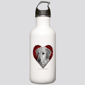 Yellow Lab Valentine Stainless Water Bottle 1.0L