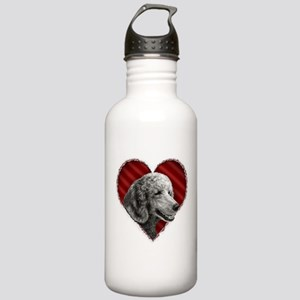 Poodle Valentine Stainless Water Bottle 1.0L