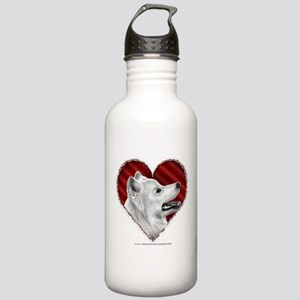 Samoyed Valentine Stainless Water Bottle 1.0L