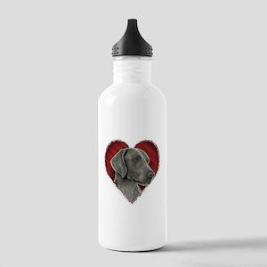 Weimeraner Valentine Stainless Water Bottle 1.0L