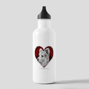 Westie Valentine Stainless Water Bottle 1.0L