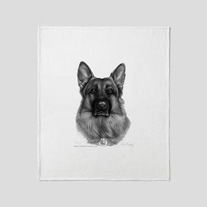 Rikko, German Shepherd, Polic Throw Blanket