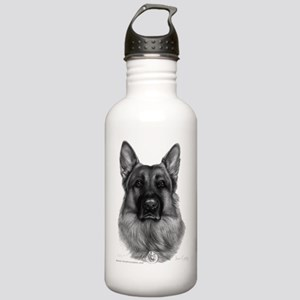 Rikko, German Shepherd, Polic Stainless Water Bott