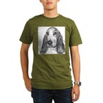 Basset Hound Organic Men's T-Shirt (dark)