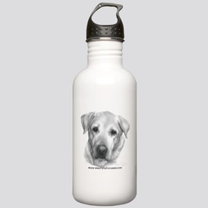 Alex, Labrador Retriever Stainless Water Bottle 1.