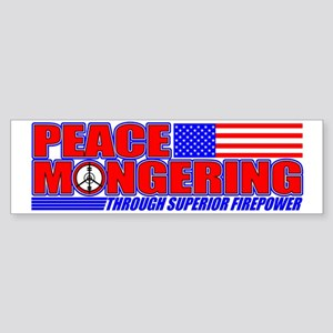 Peacemonger Bumper Sticker